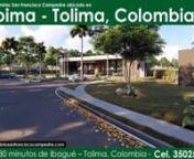 """""""Condominio Campestre con uso de suelo ECOAGROTURÍSTICO único en Colombia, desarrollado en una zona de condiciones agroclimáticas especiales, bosques nativos, bioparque y reservas extraordinarias de Agua"""".nnMás información en www.condominiosanfranciscocampestre.comnnLínea de atención en WhatsApp nClic Aquí nhttps://wa.me/573004543924"""