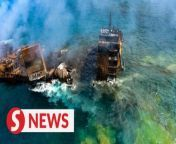 Sri Lanka on Thursday (June 3) braced for the possibility of an oil spill after a cargo ship laden with chemicals sank off its western coast, in what is already the country's worst ever man-made environmental disaster.<br/><br/>The Singapore-registered MV X-Press Pearl, carrying 1,486 containers, including 25 tonnes of nitric acid along with other chemicals and cosmetics, was anchored off the port city of Negombo when a fire erupted onboard after an explosion on May 20.<br/><br/>WATCH MORE: https://thestartv.com/c/news<br/>SUBSCRIBE: https://cutt.ly/TheStar<br/>LIKE: https://fb.com/TheStarOnline