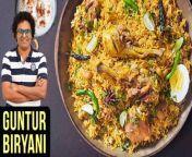 Guntur Biryani Recipe | Guntur Chicken Biryani | Chicken Biryani | Andhra Chicken Biryani | Get Curried | The Bombay Chef - Varun Inamdar<br/><br/>Learn how to make Guntur Chicken Biryani with our chef Varun Inamdar.<br/>Biryani is one of the most amazing royal delicacies introduced to Indians by the Mughals. It's prepared in many ways and chef Varun presents to you the delicious & easy perfect Guntur Chicken biryani only on Get Curried.<br/><br/>Chicken Guntoor Biryani Ingredients -<br/>2 Tbsp Oil <br/>2 Tbsp Ghee<br/>2 no Marathi Moggu<br/>2-3 Mace Blade<br/>5-6 Green Cardamoms<br/>2-inch Cinnamon Stick<br/>1 Tsp peppercorns <br/>1/2 tsp Cloves <br/>1 tsp Royal Cumin <br/>1/4 cup Cashewnuts <br/>1 Onion (sliced)<br/>Salt<br/>1 tbsp Ginger & Garlic Paste <br/>1 Tbsp Red Chilli Powder <br/>1 Tsp Garam Masala Powder <br/>1 Tsp Coriander Seed Powder <br/>1 Tsp Mint Leaves <br/>1/4 cup Coriander Leaves (chopped)<br/>1 Tomato (sliced)<br/>750 gms Chicken <br/>1 tbsp Lemon Juice <br/>Salt<br/>1/4 cup Coconut Milk <br/>1/4 cup Milk<br/>1/4 cup Curd <br/>500 gms Basmati Rice (parboiled)<br/>1/2 tsp Turmeric <br/>3 tbsp Water <br/>1 Boiled Egg <br/>2 Tbsp Ghee