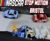 Relive the Bass Pro Shops Night Race from Bristol Motor Speedway through the lens of YouTube stop-motion artist M&M Cup Series.