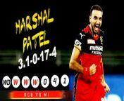 Harshal Patel's hat-trick heroics Against Mumbai Indians<br/><br/>மும்பை அணி படுதோல்வி<br/><br/><br/><br/>#RCB<br/>#MI